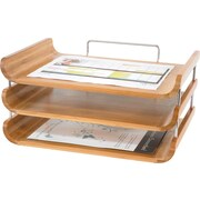Safco® 3641 Bamboo Triple Tray, Natural