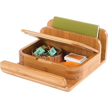 Safco® 3642 Bamboo Small Organizer, Natural
