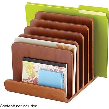 Safco® 3643 Bamboo 5 Tier Desktop Organizer, Cherry
