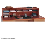 Safco® 3671 Low Profile Desktop Organizer, 12(H) x 57 1/2(W) x 12(D), Cherry