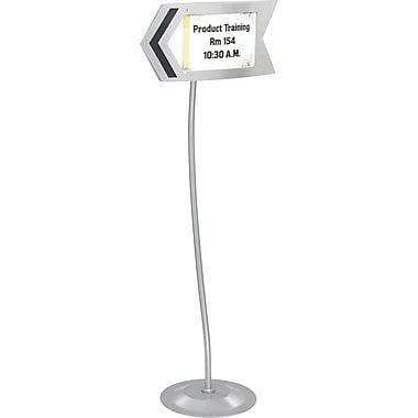 Safco® 4169 Gray Customizable Arrow Sign, Steel