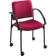 Safco® Moto™ 4184 Stacking Chair, Burgundy