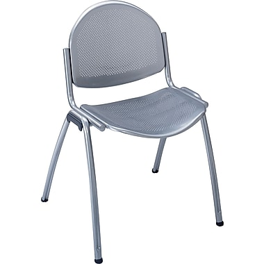 Safco® 4186 Echo Stacking Chair, Silver