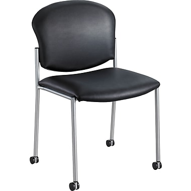 Safco® 4194 Guest Chair, Black Vinyl