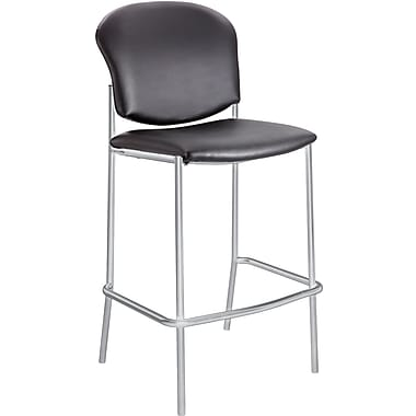 Safco® 4195 Fabric Diaz Bistro Chair, Black Vinyl