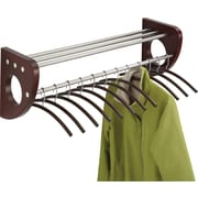 "Safco® Mode™ 4212 36"" Wood Wall Coat Rack With Hangers, Mahogany"