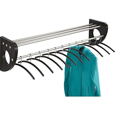 Safco® Mode™ 4213 48in. Wood Wall Coat Rack With Hangers, Black