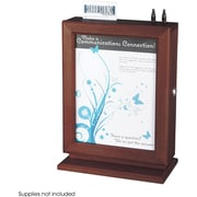 Safco® 4236 Suggestion Box, Mahogany