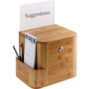 Safco® Bamboo Suggestion Box, Natural (4237NA)