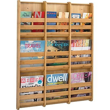 Safco® 4624 Magazine Wall Rack With 9 Pockets, Natural