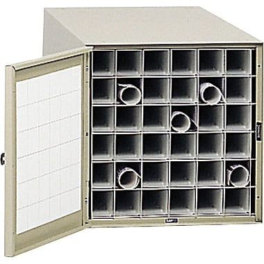 Safco® 4962 Roll File Steel Roll File, Tropic Sand, 36 Compartment