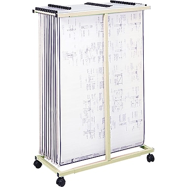 Safco® 2-Drawer Mobile Vertical File Stand, Tropic Sand (5059)