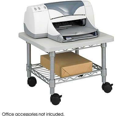 Safco® 5206 Under-Desk Printer/Fax Stand, Metallic Gray