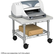 Safco Under-Desk Printer/Fax Stand, Metallic Gray (5206)