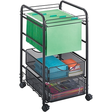 Safco® Onyx™ 5215 Mesh Open File With Drawers, Black