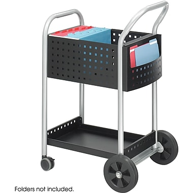 Safco® 5238 Mail Cart, 20in.W, Black Steel