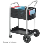 "Safco® 5238 Mail Cart, 20""W, Black Steel"