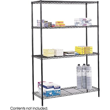 Safco® 5241 Steel Commercial Wire Shelving, 48in.(W) x 18in.(D), Black