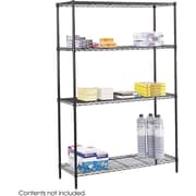 "Safco® 5241 Steel Commercial Wire Shelving, 48""(W) x 18""(D), Black"