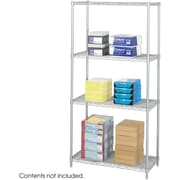 "Safco® 5285 Steel Industrial Wire Shelving, 36""(W) x 18""(D), Metallic Gray"