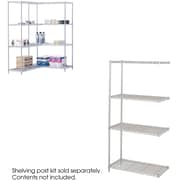 "Safco® 5286 Steel Industrial Add-On Unit, 36""(W) x 18""(D), Metallic Gray"