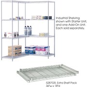 "Safco® 5287 Steel Industrial Extra Shelf Pack, 36""(W) x 18""(D), Metallic Gray"