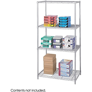 Safco® 5288 Steel Industrial Wire Shelving, 36in.(W) x 24in.(D), Metallic Gray