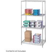 "Safco® 5288 Steel Industrial Wire Shelving, 36""(W) x 24""(D), Metallic Gray"