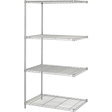 Safco® 5289 Steel Industrial Add-On Unit, 36in.(W) x 24in.(D), Metallic Gray