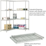 "Safco® 5290 Steel Industrial Extra Shelf Pack, 36""(W) x 24""(D), Metallic Gray"