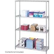 "Safco® 5291 Steel Industrial Wire Shelving, 48""(W) x 18 (D), Metallic Gray"