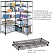 Safco® 5296 Steel Industrial Extra Shelf Pack, 48in.(W) x 24in.(D), Black