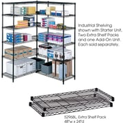 Safco® 5296 Steel Industrial Extra Shelf Pack, 48(W) x 24(D), Black