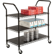 Safco® 5338 Wire Utility Cart, 3 shelves, Black