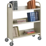 Safco® 5358 Single-Sided Book Cart, Sand