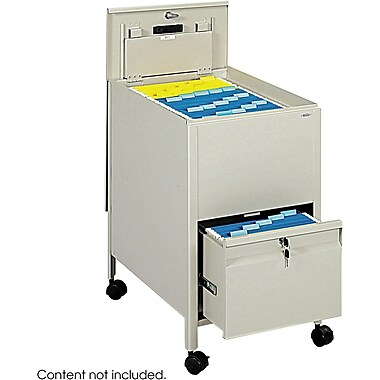 Safco® 5364 Locking Mobile Tub File With Drawer, Putty