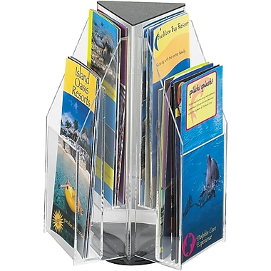 Safco Revela 6-Pocket Acrylic Pamphlet Tabletop Display, Clear