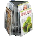 Safco® Reveal™ 5698 Triangle 6 Magazine Tabletop Display, Clear