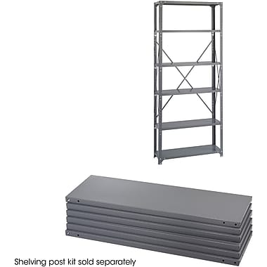 Safco® 6250 Steel Industrial Shelf Pack, 36in.(W) x 12in.(D), Gray