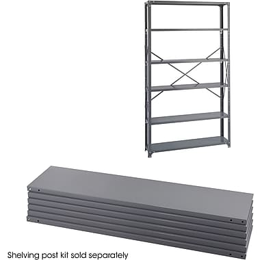 Safco® 6251 Steel Industrial Shelf Pack, 48in.(W) x 12in.(D), Gray