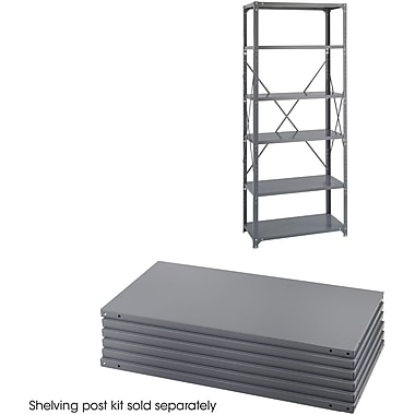 Safco® 6252 Steel Industrial Shelf Pack, 36in.(W) x 18in.(D), Gray