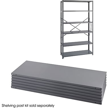 Safco® 6253 Steel Industrial Shelf Pack, 48in.(W) x 18in.(D), Gray