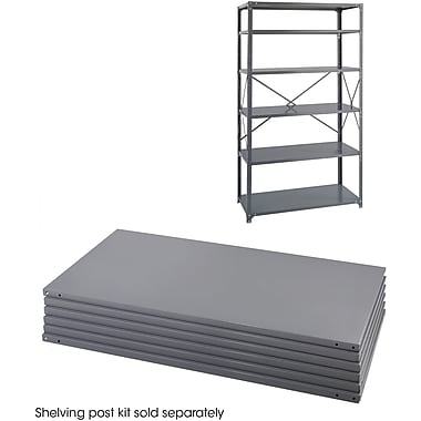 Safco® 6254 Steel Industrial Shelf Pack, 36in.(W) x 24in.(D), Gray