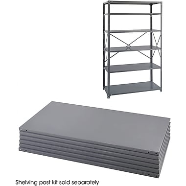 Safco® 6255 Steel Industrial Shelf Pack, 48in.(W) x 24in.(D), Gray
