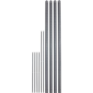 Safco® 6256 Steel Industrial Shelving Post Pack, 1 1/2in.(W) x 1 1/2in.(D), Gray
