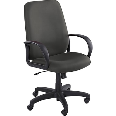 Safco 6300BL Poise Polyester High-Back Executive Chair with Fixed Arms, Black