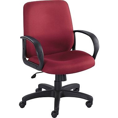 Safco Poise Fabric Executive Office Chair, Fixed Arms, Burgundy (XX6301BG)