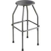 "Safco Diesel 29.75"" Adjustable Height Stool, Pewter (6666)"