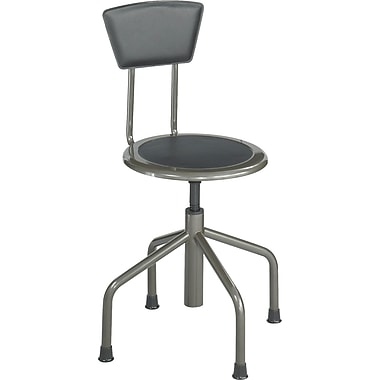 Safco® 6668 Leather Diesel Low Base With Back, Pewter
