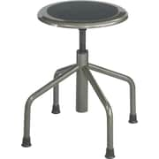 "Safco Diesel 22"" Low Base Stool without Back, Pewter (6669)"